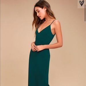 Forest green bridesmaid/evening gown